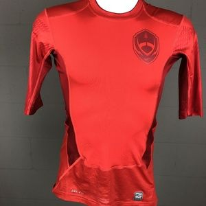 Nike Pro Combat Men's Compression Shirt Size S Red
